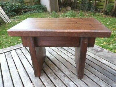 Lovely Small Vintage Hand Made Rustic Solid Wood Milking Stool