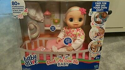 Baby Alive Real As Can Be Baby Doll Christmas Gift Present Brand New