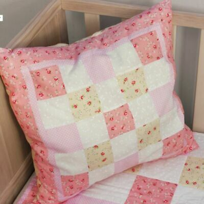 """Pink Quilted Cushion Kit Quilting Project Ideal For Beginners 18"""" x 18"""" Sew Easy"""
