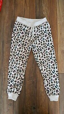 Girls Next Leopard Animal Print Trousers Joggers 6-7 Years