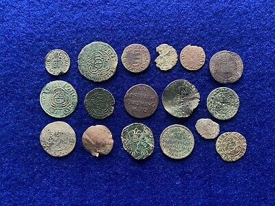 Large Group Of Medieval To Post Medieval Jettons & Tokens & Charles I Farthings