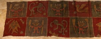 Chimu Painted Pre Columbian Textile