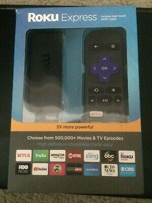 Roku Express NEW 3900R 5X More Powerful HD Streaming with HDMI Cable