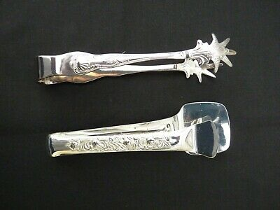 Ice Tongs EPNS A1 Sheffield England Kings design/Server for sandwiches etc.