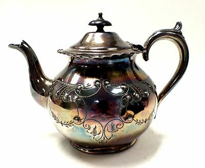 """Antique/ Vintage 490g Marked EPNS/ SILVER PLATED 6"""" Tall Teapot  - L10"""