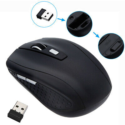 2.4GHz Wireless Mouse Adjustable DPI Cordless Mice for PC Laptop w/ USB Receiver