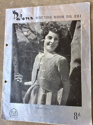 Vintage Patons Knitting Pattern Book 281 - Girls' Jumpers & Cardigans