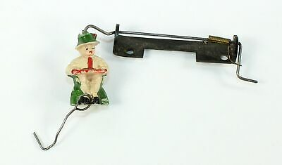 "MUSICAL CUCKOO CLOCK MUSIC BOX MOVEMENT ""SITTING MAN"" FIGURE w/HARDWARE - GG210"