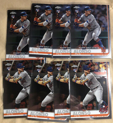 (8) 2019 Topps Chrome Update Pete Alonso RC Rookie Lot Rookie ASG Debut #52 #86