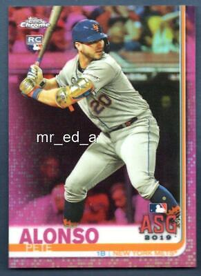 Pete Alonso RC Pink Refractor 2019 Topps Chrome Update 86 Rookie NYM TCU ASG