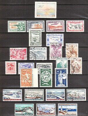Greece, Mint/Used Selection of Greek Air Post Stamps  From 1926-1958