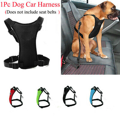 Dog Safety Clip Breathable Adjustable Air Mesh Pet Harness Restraint Lead