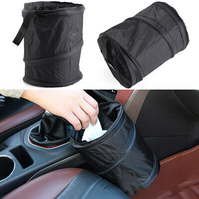 Portable Collapsible Car Cylindrical Trash Can Pop-up Trash Bin Box Hanging Bag