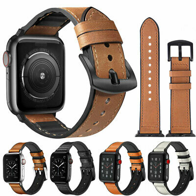 Genuine Leather Band Strap for Apple Watch iWatch Series 5 4 3 2 1 40/44/38/42mm