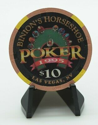 Binion's Horseshoe $10 Casino Chip Las Vegas Nevada H&C Paul-son Mold 1995