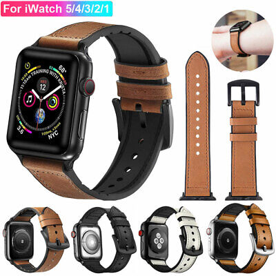 【Genuine Leather】Band Strap for Apple Watch iWatch Series 5 4 3 2 1 38 42 40 44m