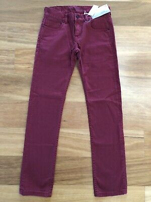 NWT QUIKSILVER JEANS Boys Sz 14 Skinny Fit Zeppelin Red Denim  -  NEW with Tags!