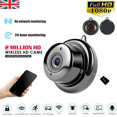 1080P Wireless WiFi CCTV MINI Camera IP HD CAM Home Security IR Night Vision