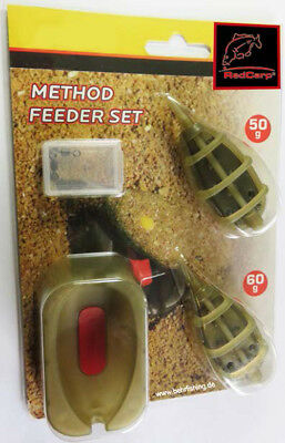 Behr Fishing Method Feeder Set 50-60g Futterkörbe + Ausdrückform