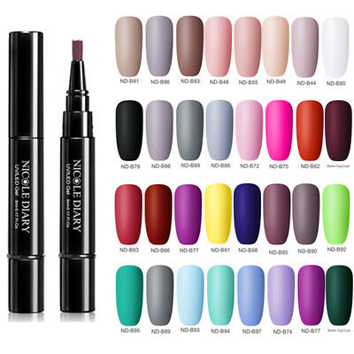 NICOLE DIARY 5ml One Step 3 in 1 Nail Art Gel Polish Pen Matte Top Coat Soak Off