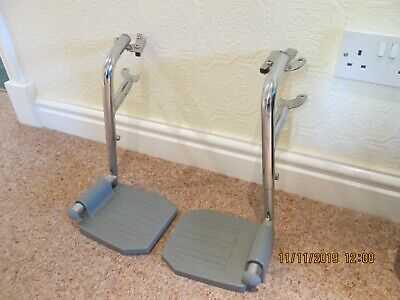 No 16, 1 Pr Aidapt Wheelchair or Commode Foot Rests Good USED Condition
