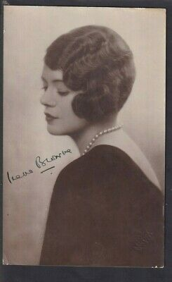 Theatre Film Actress Irene Browne 1896-1965 Autographed Photo