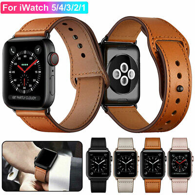 Genuine Leather Strap Apple Watch Band For iWatch Series 5 4 3 2 1 38 40 42 44mm