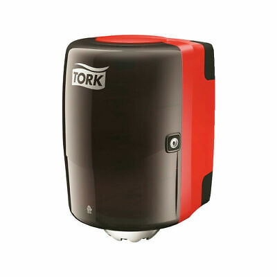 Tork Performance Design Centre Feed Dispenser Red Easy Cleaning. New, Boxed lock