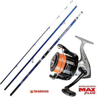 KP4241 Kit Pesca Surf Evo Canna Seabasster Mulinello Trabucco 8000 RNG