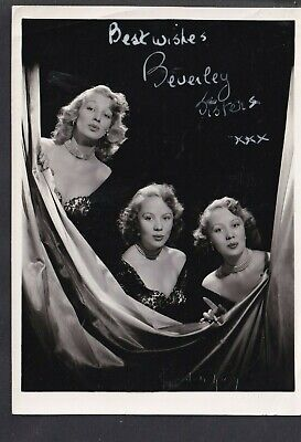 Beverley Sisters 1950/60s Pop Trio Autographed Photo (Houston Rogers)