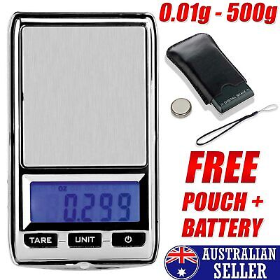 New DIGITAL POCKET SCALES 500g 0.01 JEWELLERY ELECTRONIC milligram micro MG OZ