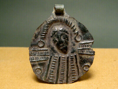 Christ Sheet Pendant Bronze Egypt 400-600 Ad