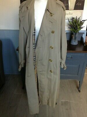 Vintage Burberrys Burberry London Trench Coat Double Breasted Size 16 -18 Uk