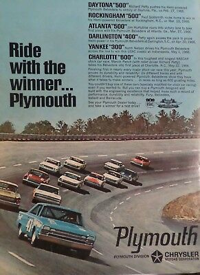 1966 Plymouth Belvedere Richard Petty-Ad/Picture/Print 67 68 426 Hemi Nascar