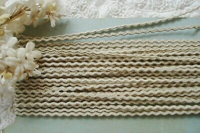 """Antique vintage French Gold METAL Mesh Trim for rococo ruching ribbon work 1//8/"""""""
