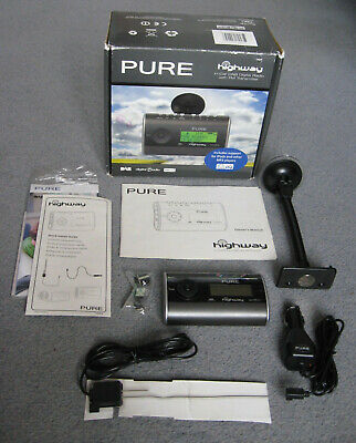 PURE Highway In-Car DAB Digital Radio with FM Transmitter, supports iPod and MP3