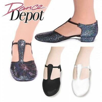 Dance Depot Womens Suede Sole Greek Dance Sandals Black or White or Hologram