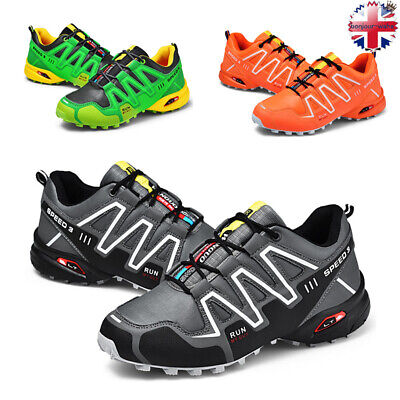 Mens Hiking Boots Walking Ankle Wide Fit Trail Trekking Trainers Shoes Outdoor