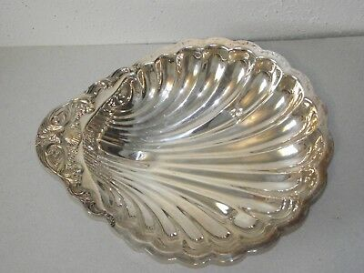 "FB Rogers Silver Co plated 1730 shell shape serving dish bowl large 12.5""x10.5"""