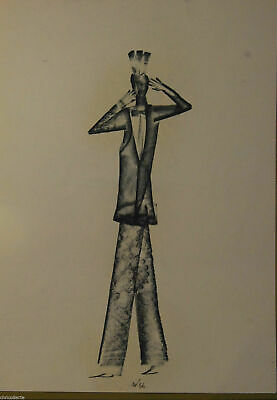 Drawing Bozzetto DISEGNO CARBONCINO LAPIS PIETRANTONI MARCELLO 1995 AUTENTICA