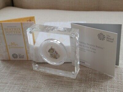 Beatrix Potter Mrs Tittlemouse Silver Proof 50 Fifty Pence Coin 2018