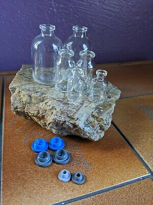 Apothecary Pharmacy Drug Store Glass Medicine Bottles Lot Of 6