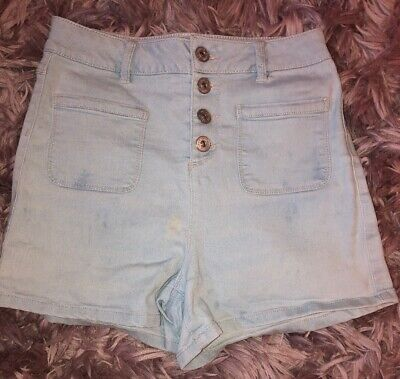 Girls High Waisted Shorts Age 14 Years New Look