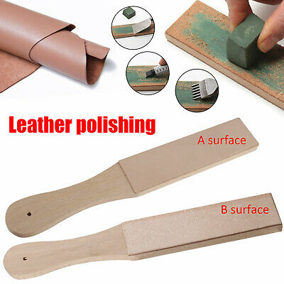Durable Dual Sided Leather Blade Strop Razor Sharpener&Polishing Compounds Kit