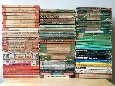 Job Lot 80+ Vintage Penguin Books (Crime Classics Orange Antiquarian Collection)