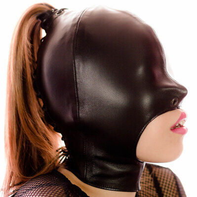Genuine Leather Mask No Bondage Mask Punk Hood Mask gimp leder maske Kopfmask