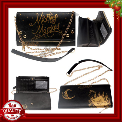 Harry Potter Hogwarts Mischief Managed Women Girl Wallet Hand Purse Shoulder Bag
