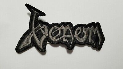 Venom Gray Logo Embroidered Patch