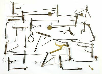 LARGE VINTAGE LOT of CLOCK STRIKERS and RELATED PARTS - CLOCK PARTS! - KC545