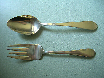 Dominick & Haff Pointed Antique Sterling Silver Set ~ Serving Spoon & Meat Fork